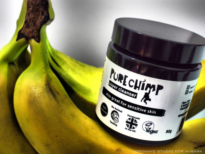 Pure Chimp Super Cleanser detergente viso banana mybarr