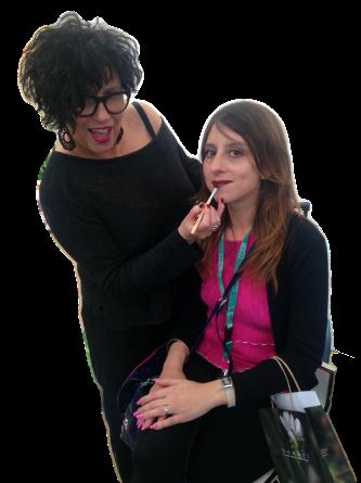 make up artist Ela per Naarei con Chiara di MyBARr