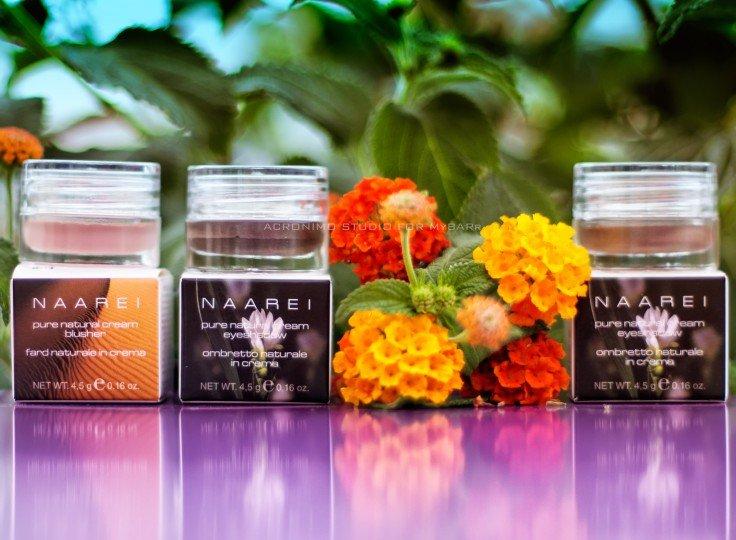 NAAREI ombretti e fard naturali in crema collezione Etherea nei colori 001 e 002 Make up MyBARr
