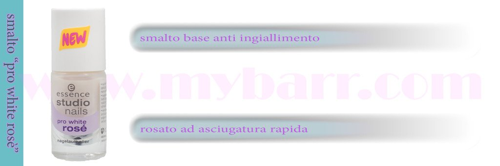 unghie - essence smalto pro white rosè - mybarr