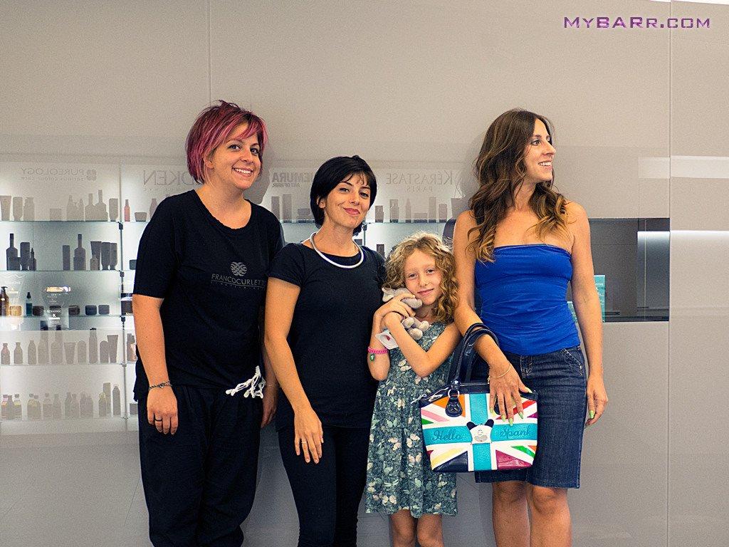 Salone-Franco-Curletto-Milano-Cora, Samantha, Eva Luna e Chiara ai saluti finali-fusio-dose-kerastase-mybarr- #myhairtransformation