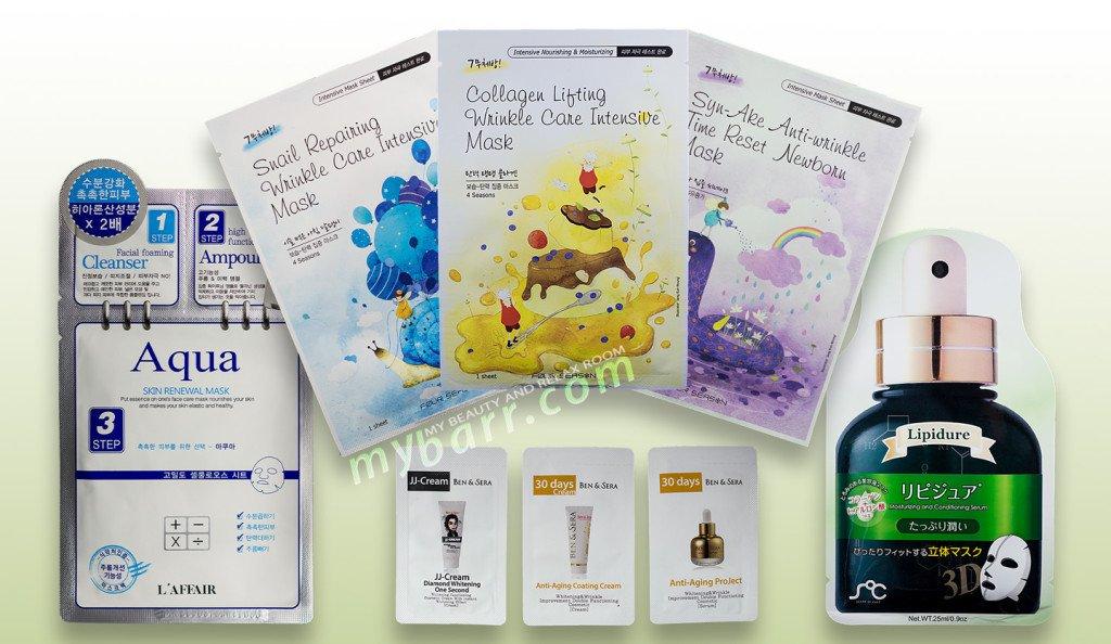 maschere-coreane-Acqua Skin - Collagen Lifting - Diamond Whitening - Lipidure - Snail Reparing - Syn All-mask