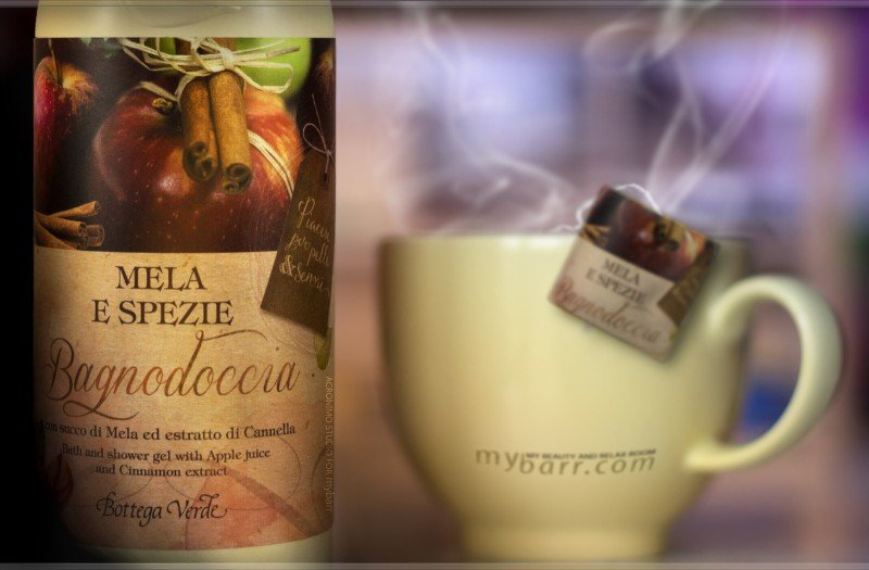bagnodoccia mela e spezie Bottega Verde Natale mybarr