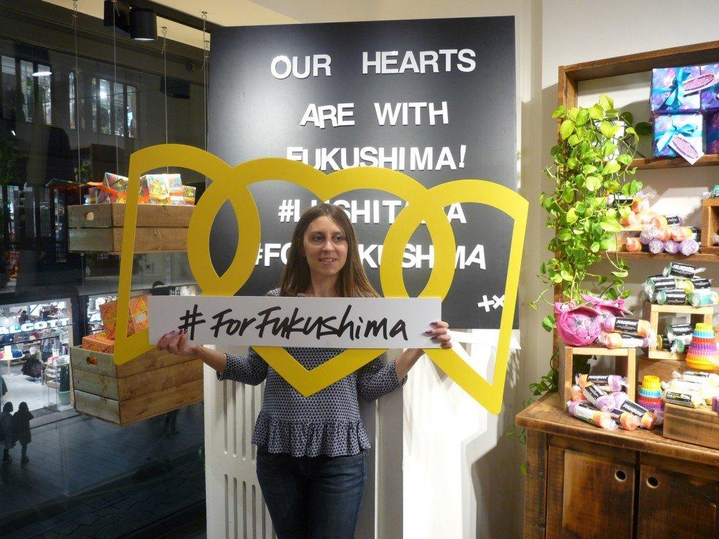 #ForFukushima evento Lush Italia Rainbow Fun mybarr