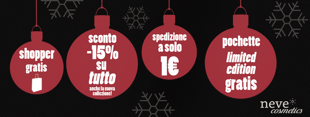 black friday 2016 make up neve cosmetics promo natale