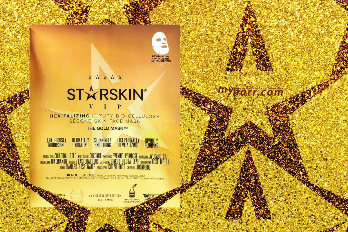 Starskin gold mask: la maschera viso oro VIP per celebrità in bio cellulosa, illuminate e rivitalizzante con cocco fermentato - mybarr