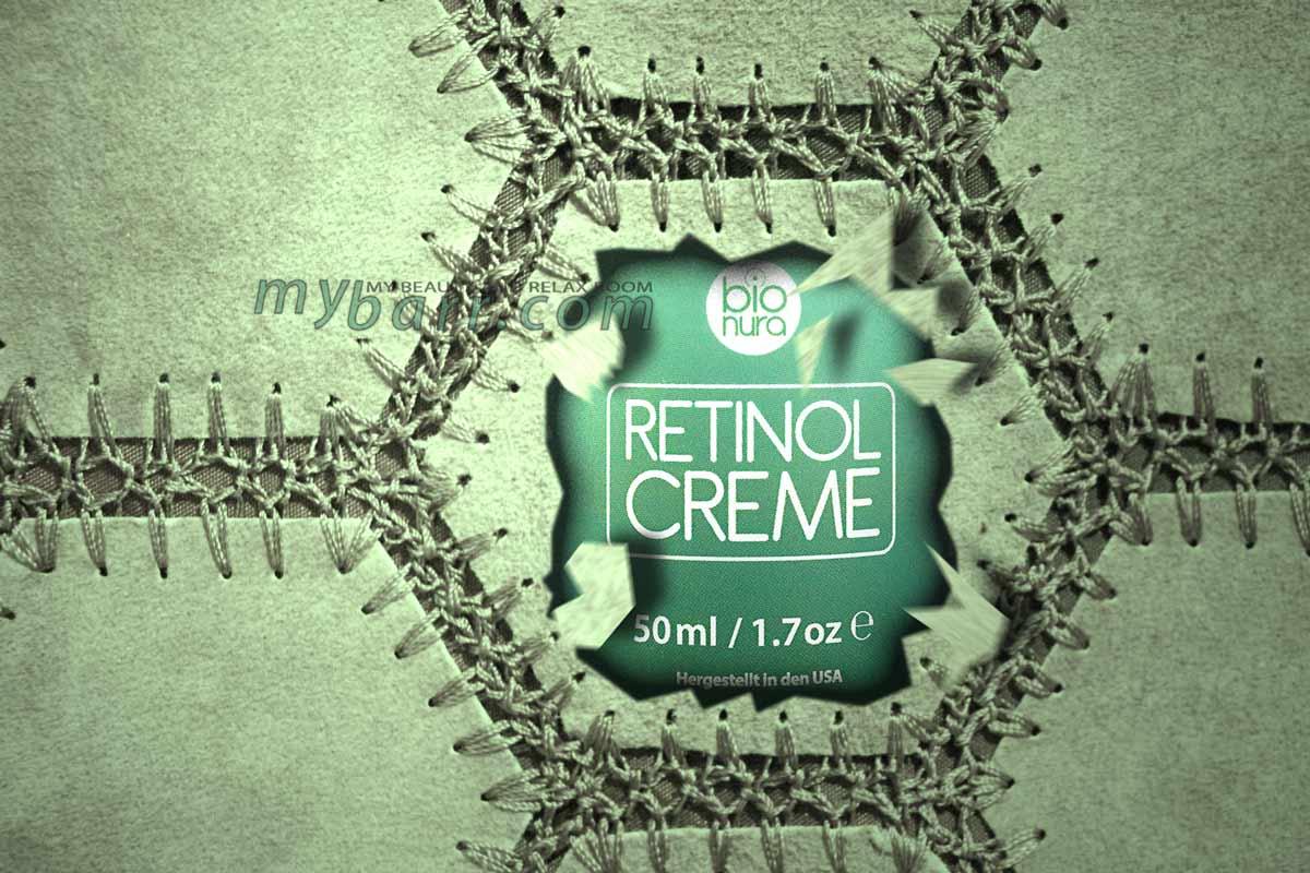 Crema viso al retinolo di bionura con acido ialuronico e tè verde - mybarr