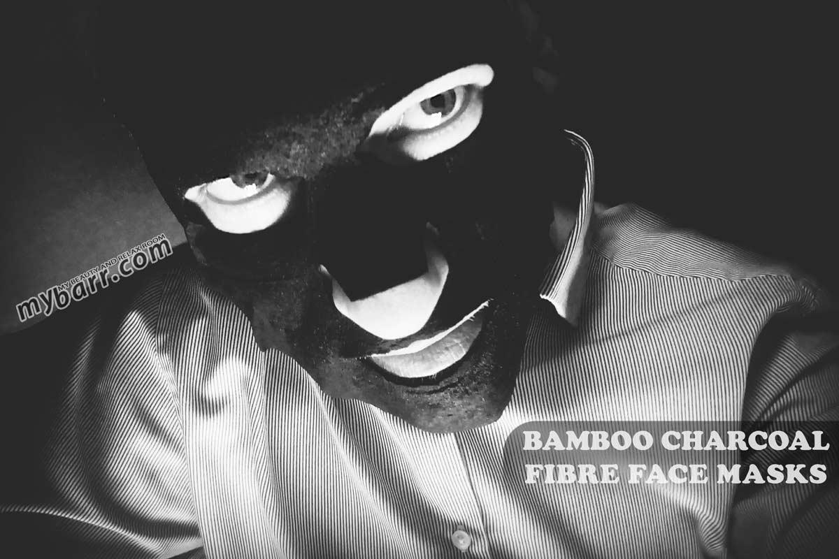 maschera nera o black mask alle fibre di carbone di bamboo NPW hello handsome bamboo charcoal fibre face masks mybarr
