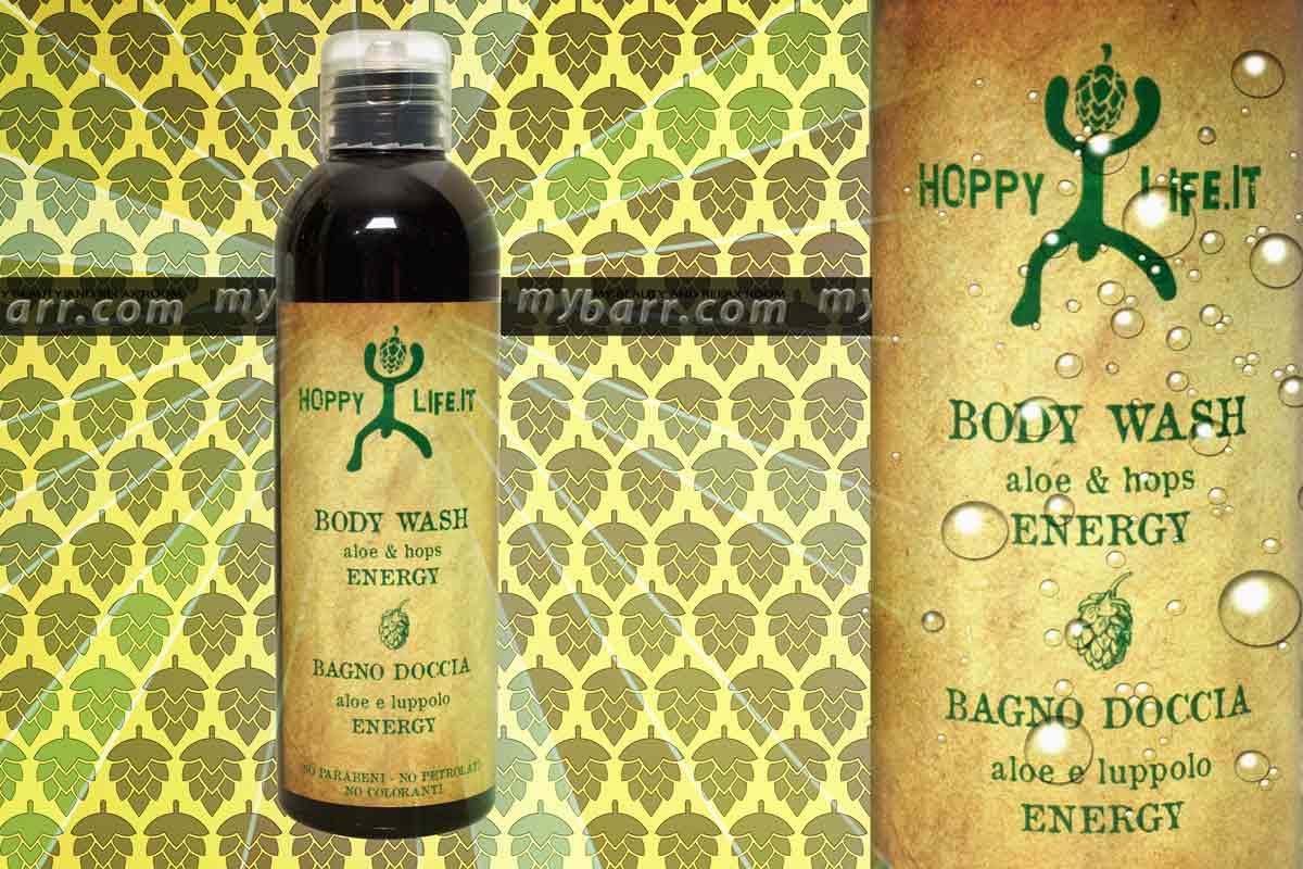 hoppylife body wash aloe e hops energy bagno doccia aloe e luppolo energy mybarr