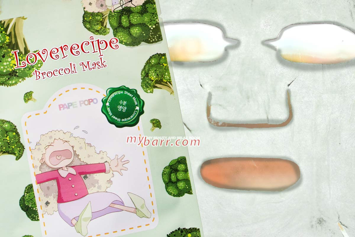 loverecipe broccoli mask di sally's box maschera coreana in tessuto da OVS senza parabeni - opinione mybarr