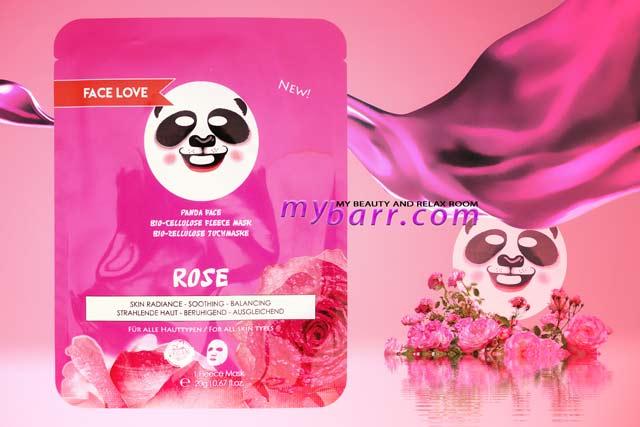 Face Love maschera viso Panda la face mask con polvere di seta, rosa e acido ialuronico da Douglas mybarr