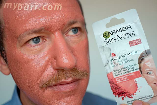 Prova di Garnier Skin Active Volcano Mask la maschera viso autoriscaldante con roccia vulcanica e argilla mybarr