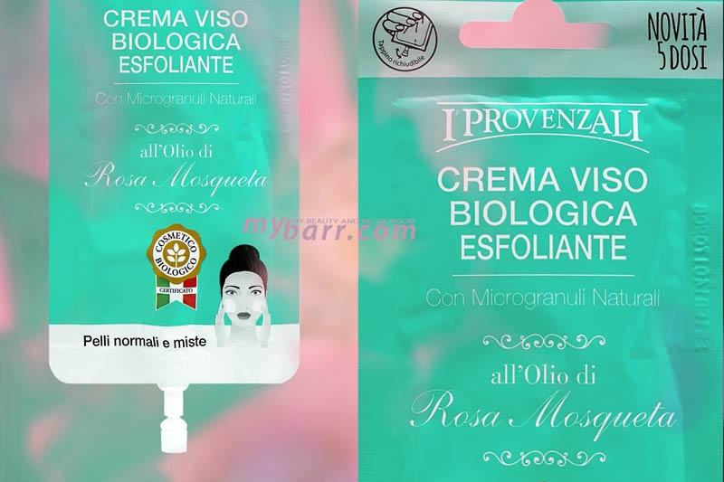 Crema viso biologica esfoliante all'olio di rosa mosquesta scrub pelle mybarr