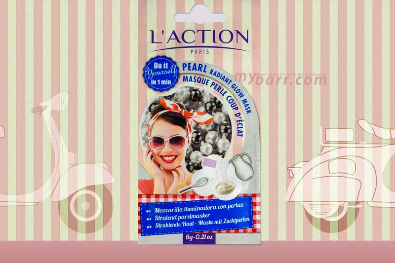 pearl radiant glow mask maschera illuminante in polvere l'action paris mybarr