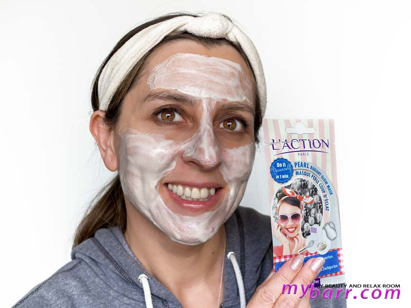 maschera l'action paris in polvere pearl radiant glow mask mybarr