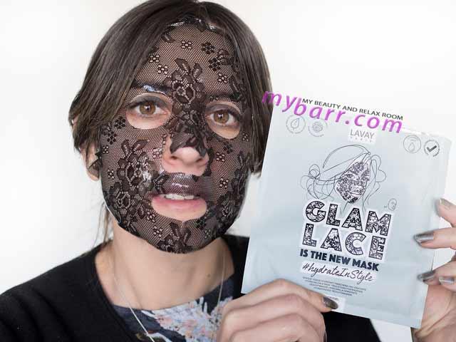 maschera viso idrogel pizzo glam lace lavay paris idratante mybarr
