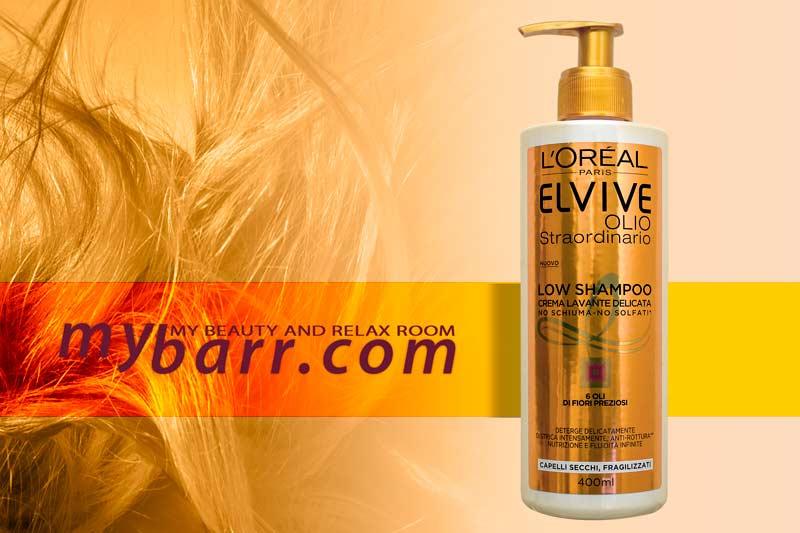 low shampoo elvive olio straordinario crema lavante delicata l'oreal mybarr
