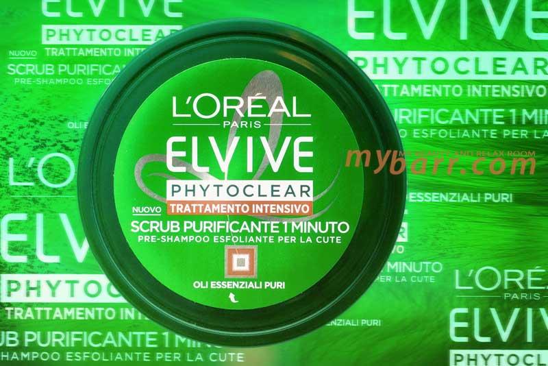 elvive phytoclear scrub capelli loreal pre shampoo esfoliante cuoio capelluto mybarr