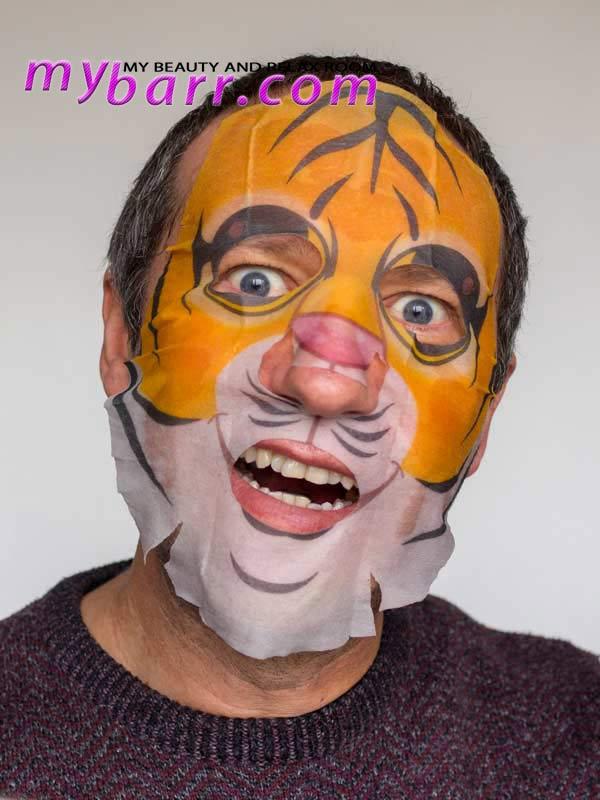 Tiger face mask pretty animalz masque bar maschera viso idratante mybarr