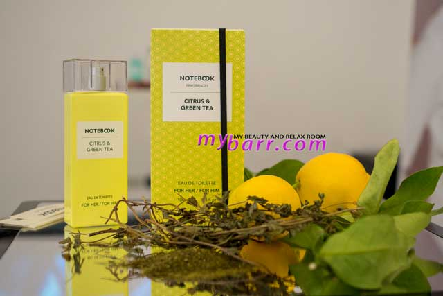 notebook fragrances by selectiva citrus & green tea for her him mybarr