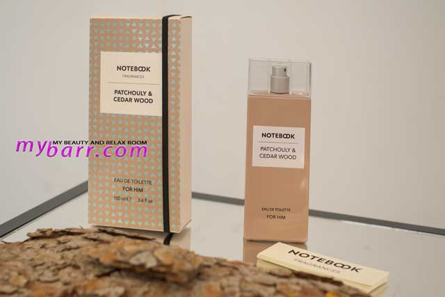 notebook fragrances by selectiva patchouli & cedar wood for him mybarr