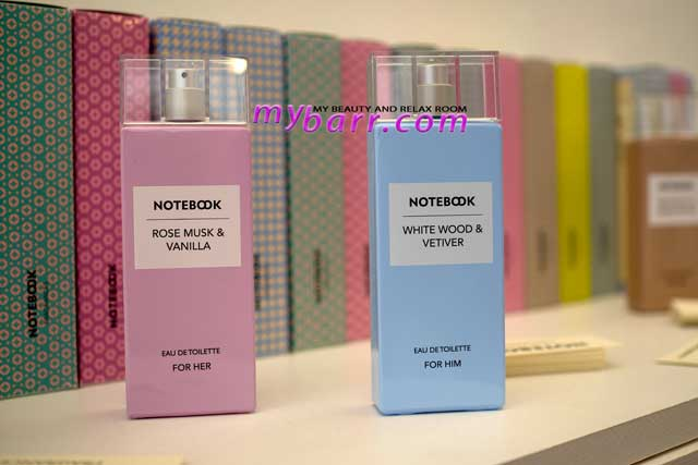 notebook fragrances by selectiva rose musk & vanilla e white wood & vetiver