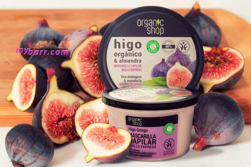 maschera capelli eco bio organic shop fico e mandorla mybarr