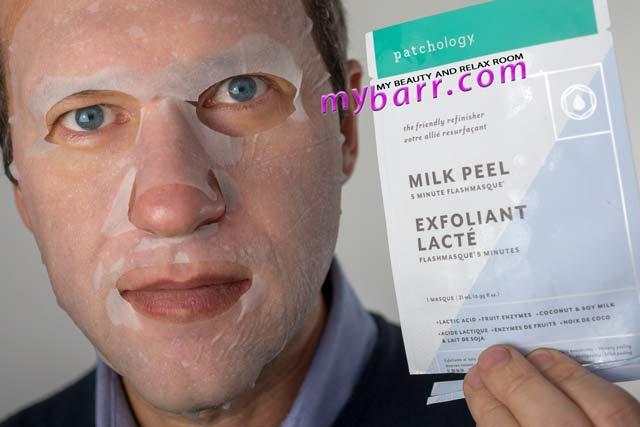 patchology milk peel flashmasque prova della maschera mybarr