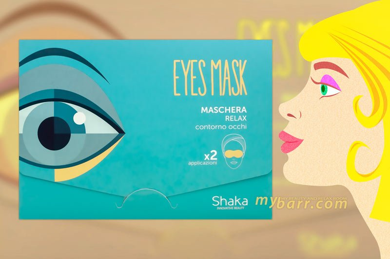 Maschera contorno occhi relax in tessuto di Shaka mybarr