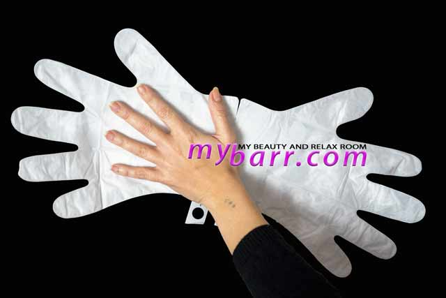 trattamento mani con guanti Montagne Jeunesse 7th Heaven soften glove mybarr