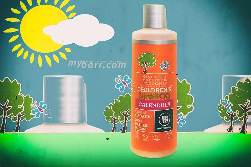 Shampoo per bambini Urtekram delicato e 100% di origine naturale non brucia gli occhi e rispetta la cute del tuo bimbo con calendula e aloe vera mybarr