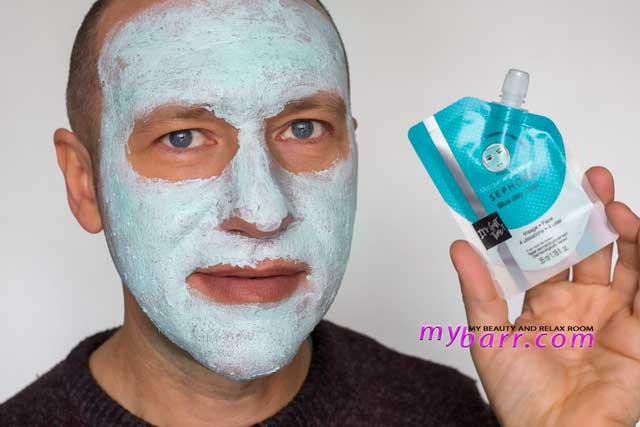 Sephora blue clay mask maschera detox la amschera all'argilla blu - prova- mybarr