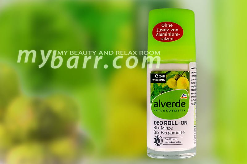 Alverde deo roll on al bergamotto da DM il deodorante biologico mybarr