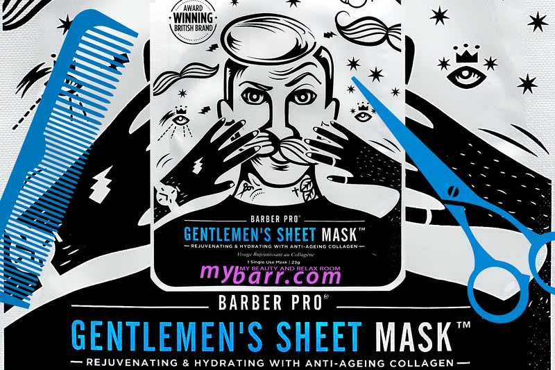 barber pro gentlemen's sheet mask mybarr