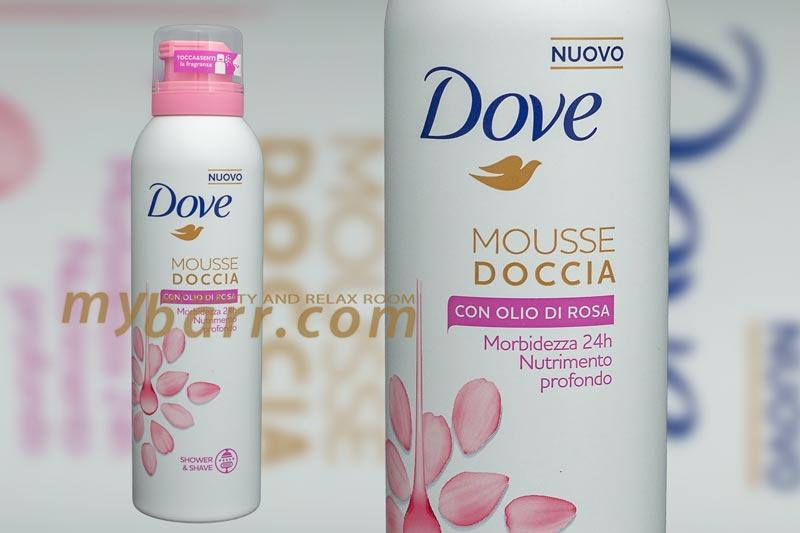 mousse doccia dove olio di rosa rasatura mybarr