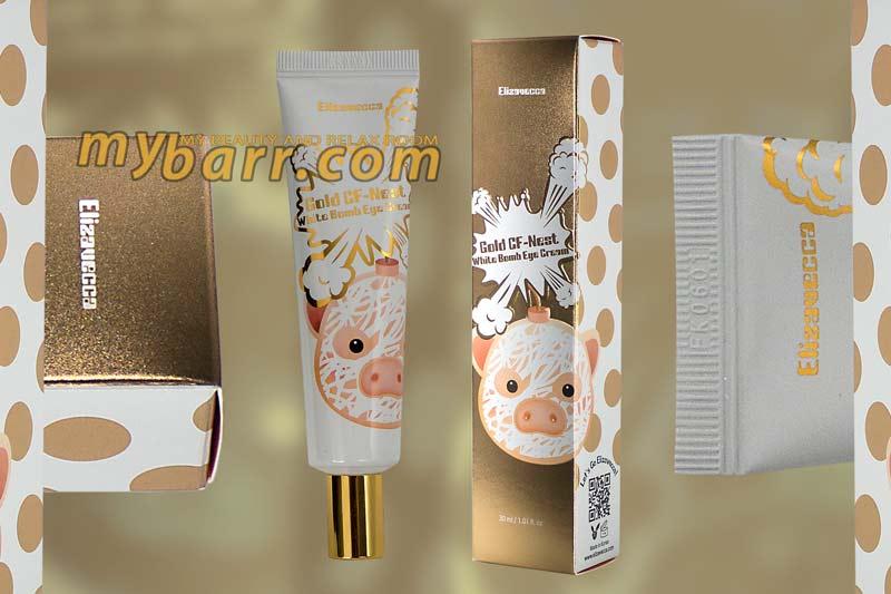 crema schiarente occhiaie gold CF- nest white bomb eye cream elizavecca mybarr