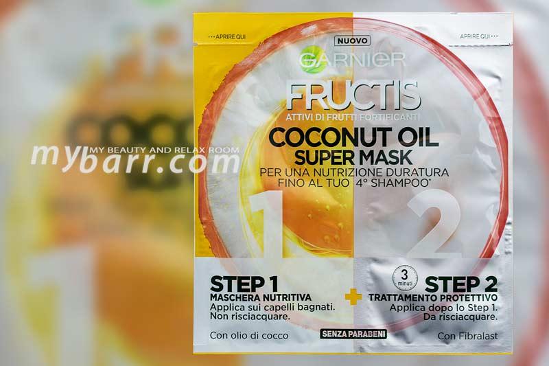 Garnier Fructis Coconut Oil Super Mask maschera capelli olio di cocco mybarr