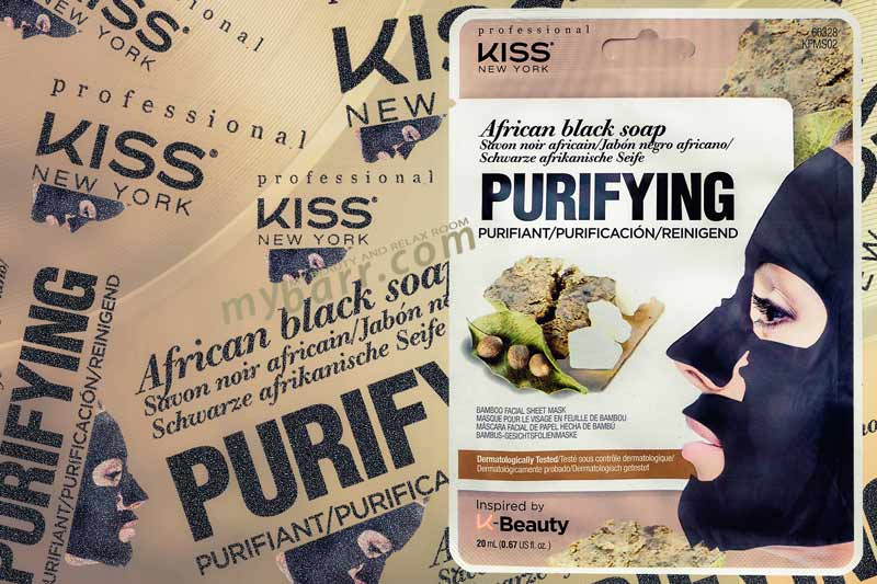 Maschera viso Kiss New York: nera per purificare la pelle