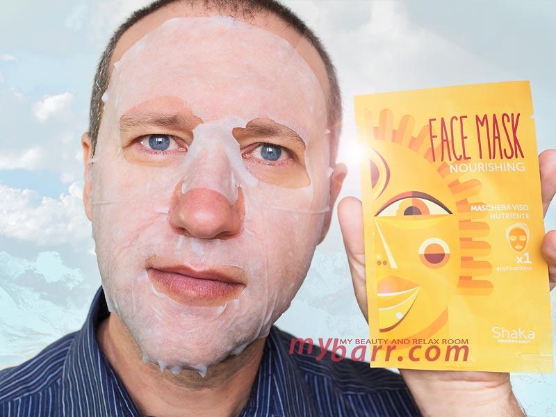 Shaka maschera nutriente viso prova prodotto mybarr