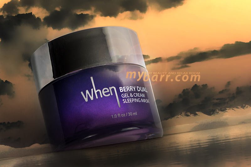 sleeping mask berry dual When maschera viso mybarr