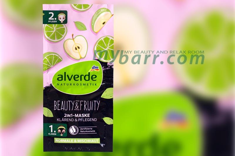 Alverde maschera viso Beauty e Fruity peeling 2 in 1 mybarr