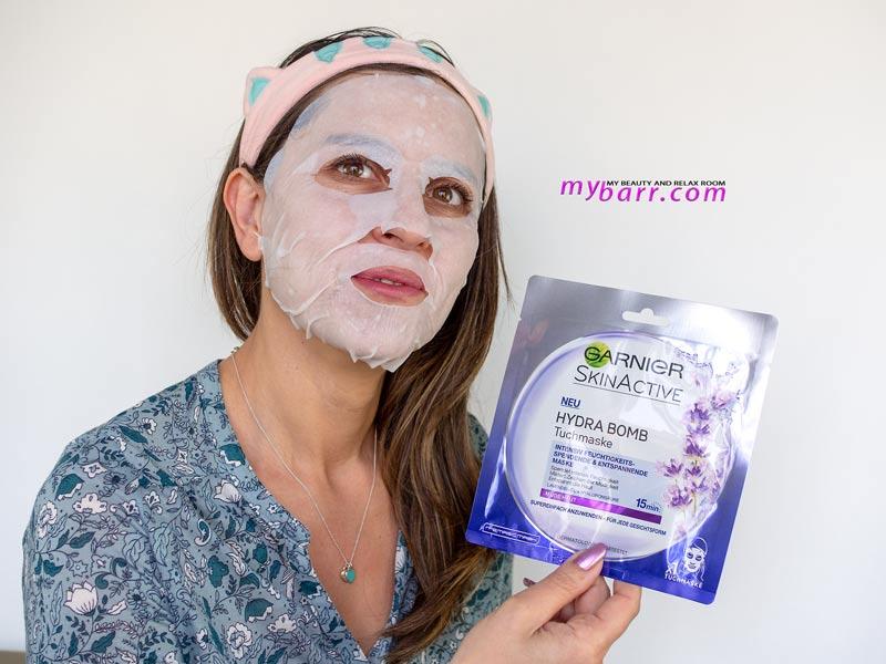 maschera garnier skin active lavanda super idratante mybarr chiara benvenuti