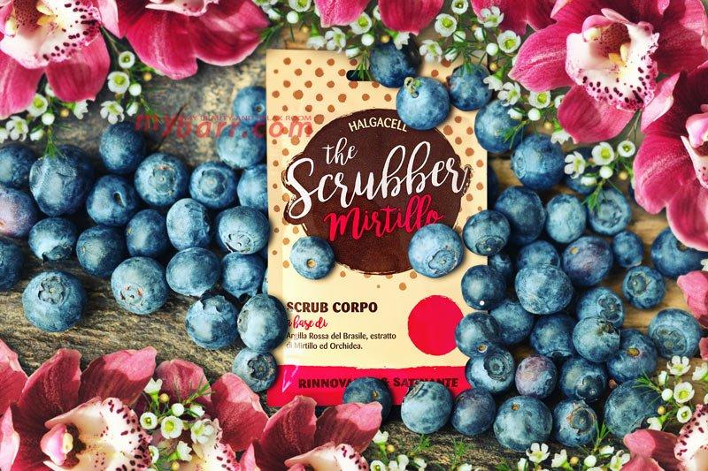 the scrubber scrub mirtillo per il corpo con argilla rossa e orchidea mybarr