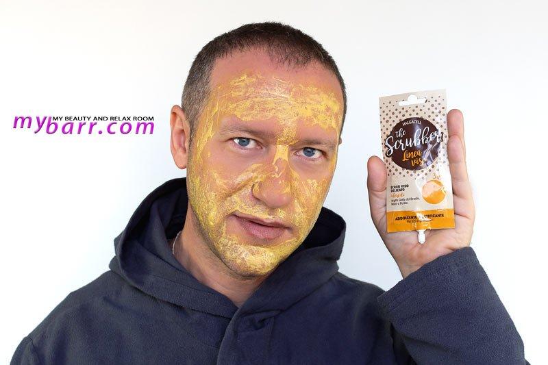 halgacell the scrubber scrub viso delicato miele argilla gialla