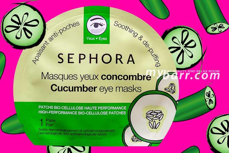 sephora cucumber eye masks maschera occhi mybarr