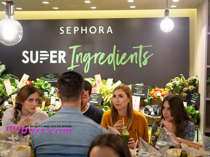 evento super ingredients superfood skincare sephora mybarr