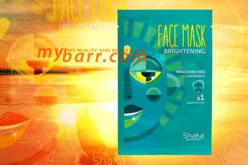 shaka brightening face mask maschera viso illuminante mybarr