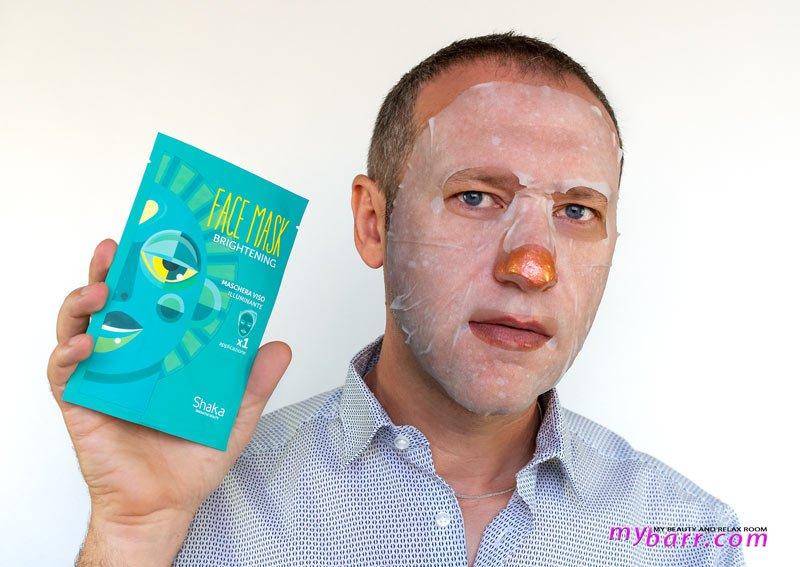 Shaka face mask brightening maschera viso illuminante mybarr
