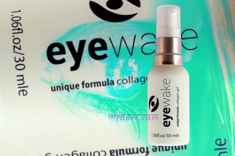 gel contorno occhi EyeWake con collagene, cetriolo e sambuco, riduce rughe, segni di affaticamento, borse, occhiaie e rinfresca mybarr