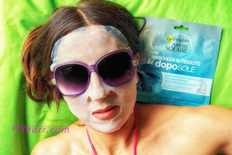 garnier ambre solaire maschera doposole tessuto lenitiva idratante mybarr opinioni